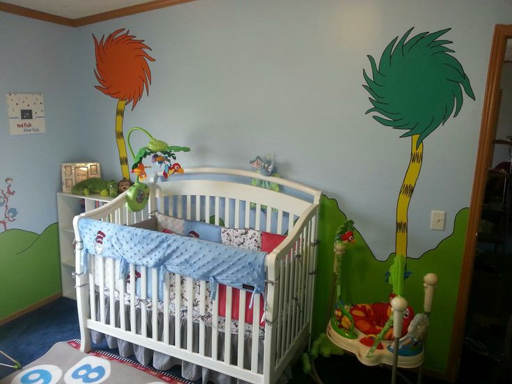 215 best images about dr seuss nursery on pinterest for Dr seuss nursery mural