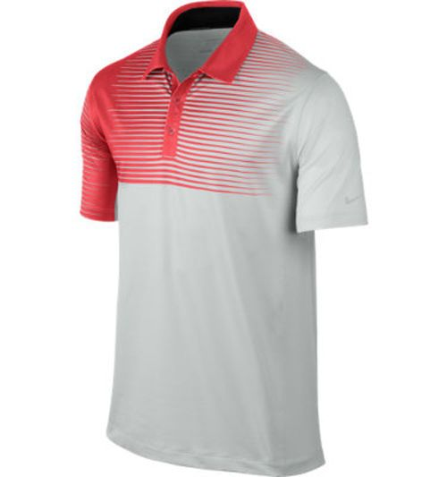 NWT Nike Golf Men's Innovation Gradient S/S Polo Gray Red Size L 585832-046 #NikeGolf #ShirtsTops #golfshirts