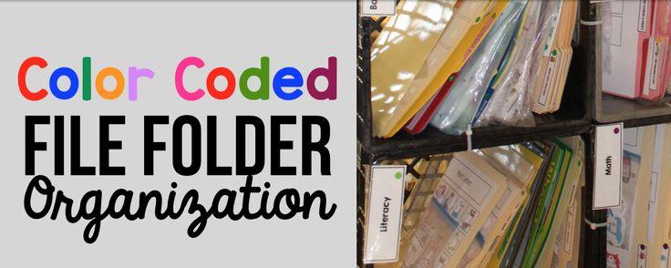 Color Coded File Folder Organization