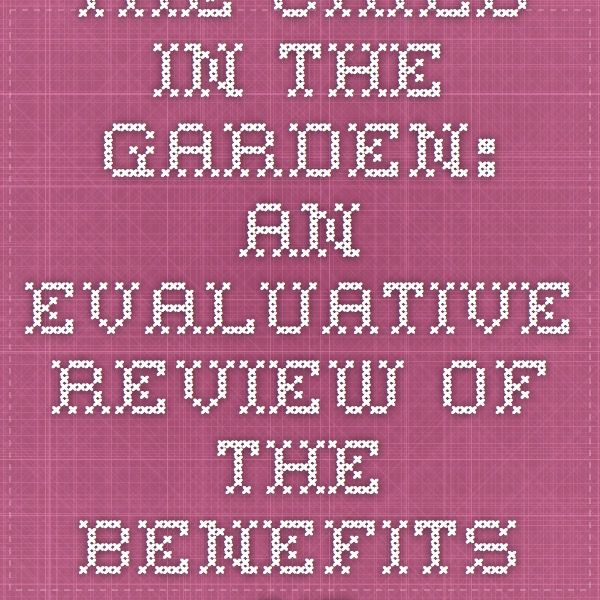 The child in the garden: an evaluative review of the benefits of school gardening. Published by: Journal of Environmental Education.  This research demonstrated school garden programs had a positive impact on student achievement and behaviour.