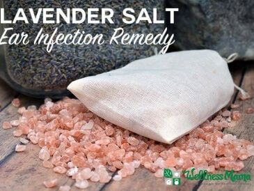 Natural Remedy for Ear Infection - this homemade natural ear infection remedy combines the soothing effects of lavender with the salt that dries out for quick relief and healing.