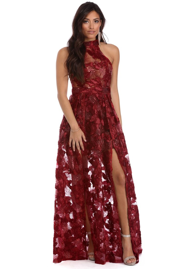 Kalea Burgundy Fiery Sunset Dress | windsor