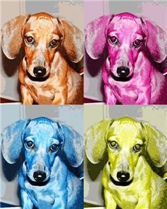 Andy Warhol dachshunds