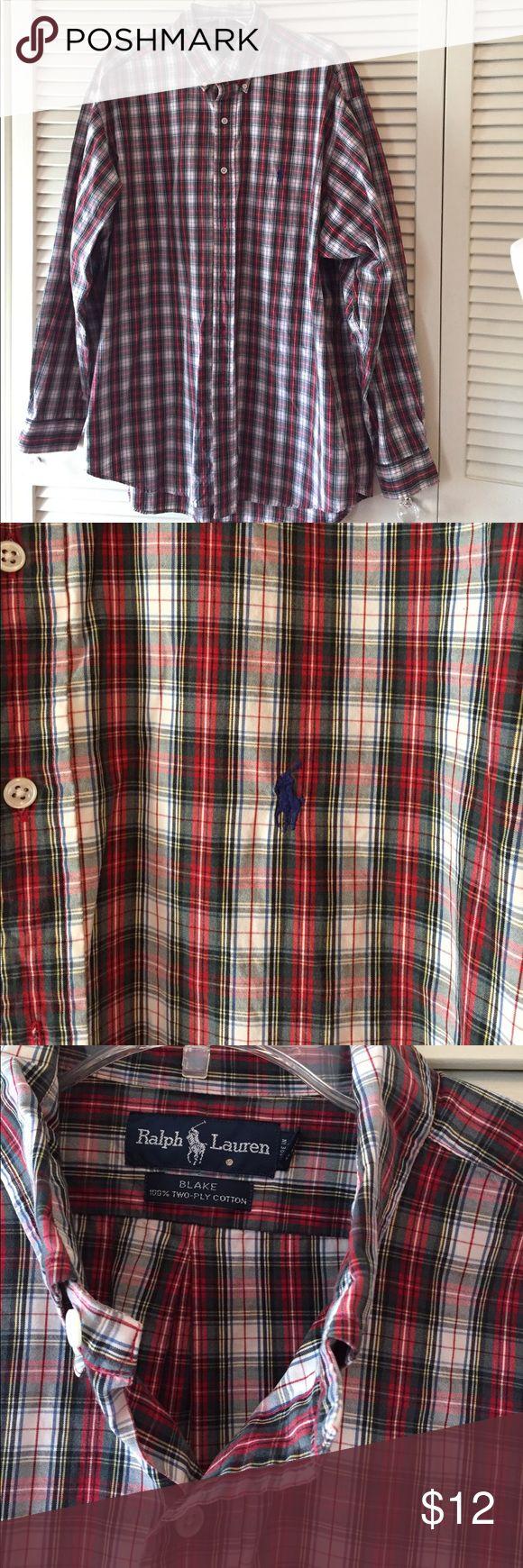 Men's Plaid Shirt 100% 2ply cotton👍👍I will negotiate but not trade.👍👍 Ralph Lauren Shirts Casual Button Down Shirts