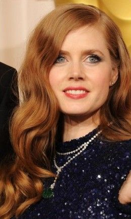 website- red hair that goes well with fair skin, blue eyes  Amy Adams with Red Hair