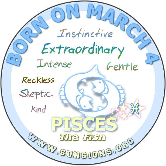 Pisces March 4 - Birthday Horoscope Meanings & Personality Characteristics | Sun Signs