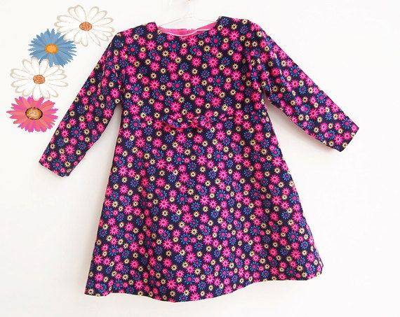 Bright Flowers Baby Girl Dress pattern sewing PDF Long by PUPERITA, $6.00
