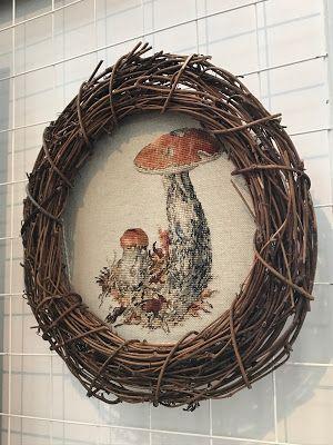 екатерина волкова вышивка крестом, екатерина волкова грибы