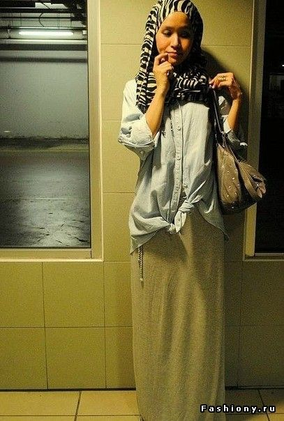 casual and relaxed #hijab #hijabi #style #fashion