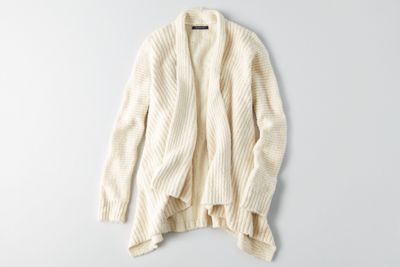 AEO Textured Cocoon Sweater by  American Eagle Outfitters | Warm up to cooler weather with a new collection of this season's essentials – featuring our coziest sweaters yet, in rich hues and soft textures. Shop the AEO Textured Cocoon Sweater and check out more at AE.com.