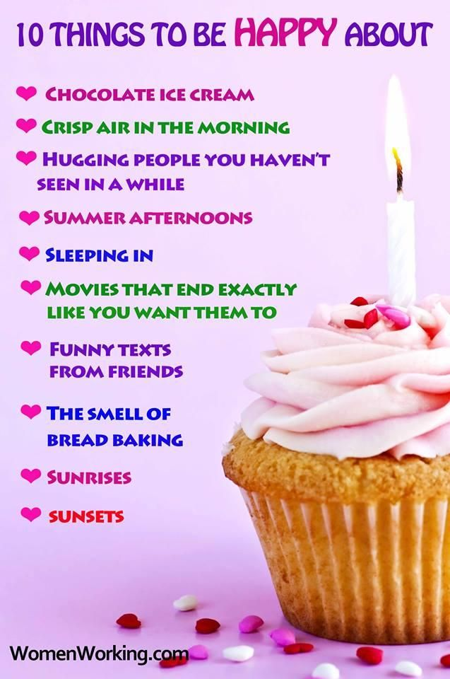 10 things to be happy about