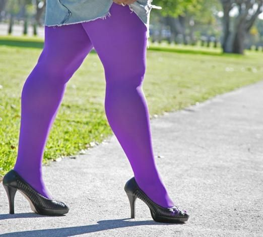 Rainbow-hued tights that come in 51 colors and are made to comfortably fit up to 375 lbs.. | 19 Pairs Of Plus-Size Tights That People Actually Swear By
