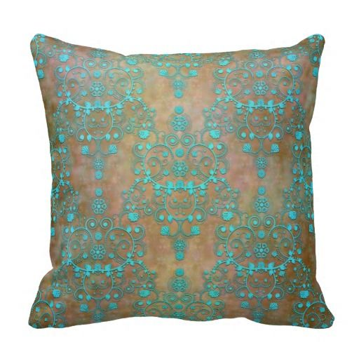 Aqua Teal over Brown Vintage Damask Design Throw Pillow today price drop and special promotion. Get The best buyReview          	Aqua Teal over Brown Vintage Damask Design Throw Pillow today easy to Shops  Purchase Online - transferred directly secure and trusted checkout...