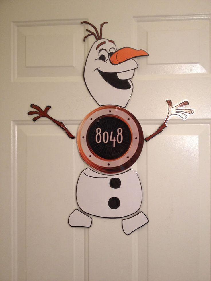 Frozen Olaf Snowman Warm Hugs Body Part Stateroom Door