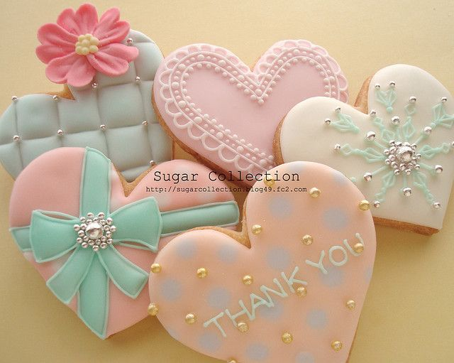 Fancy heart sugar cookies.
