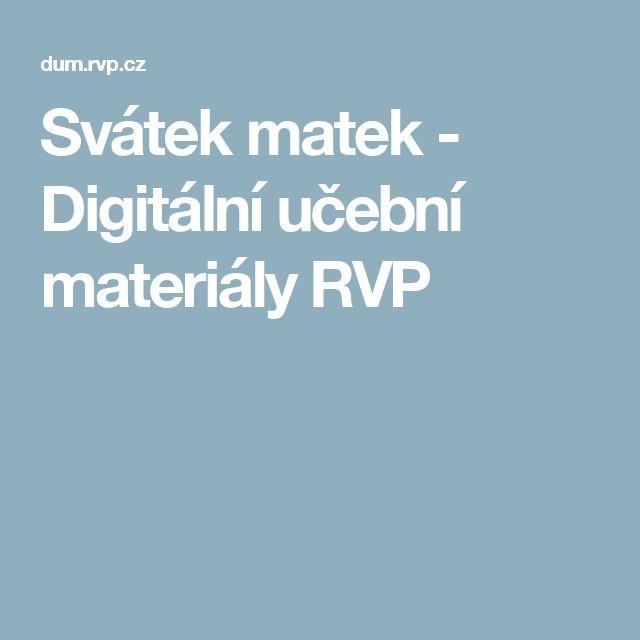 Svátek matek - Digitální učební materiály RVP