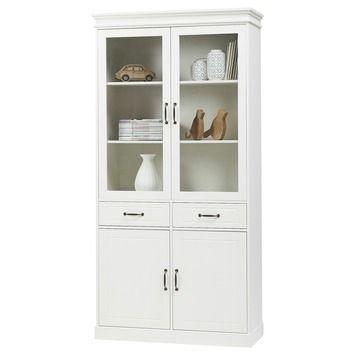 298,- € Avignon vitrinekast hout wit 200x100x40 cm in de beste prijs-/kwaliteitsverhouding, volop keuze bij GAMMA