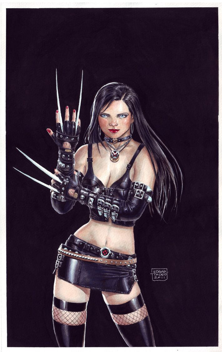 X-23 Gouache Painting by edtadeo on deviantART