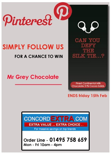 """Simply follow us for a chance to Win Mr Grey """"Can you defy the Silk Tie..?"""" Chocolate !"""