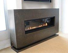Modern Fireplace, Linear Gas Burner Fireplace Surrounds Trueform Concrete Rockaway, NJ