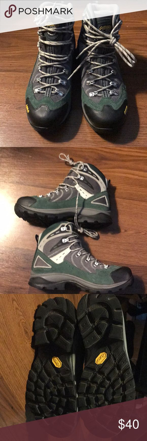 Asolo hiking boots Great quality backpacking boots! They Still need to be broken in so be prepared for a stiff fit. I've heard great things about this boot but unfortunately it wasn't the right fit. Asolo Shoes Athletic Shoes