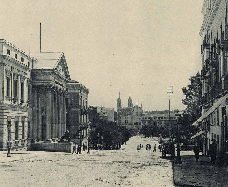 FOTOS ANTIGUAS DE MADRID - CARRERA DE SAN JERÓNIMO EN 1891