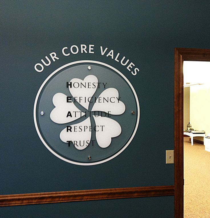 We Created This Core Values Logo For Berlin Gardens. If You Visit Their  Corporate Offices