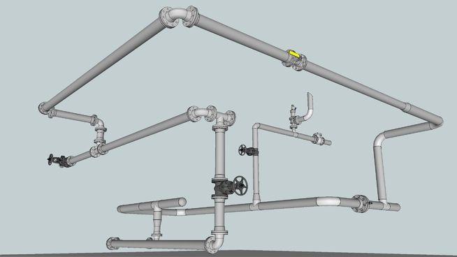 Tubulação Industrial - Industrial pipe - 3D Warehouse