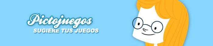 Sugiere tus juegos ¿Necesitas algún juego para trabajar con tus hijos o alumnos? Escríbenos un email a colabora@pictoaplicaciones.com y cuéntanos que juego te gustaría que desarrollásemos o bien entra en nuestra web www.pictojuegos.com y cubre el formulario al que accedes pulsando en el botón de la parte superior.
