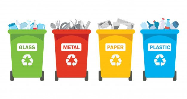 Recycle Bins For Plastic Metal Paper And Glass Recycling Bins Recycling Recycle Plastic Bottles
