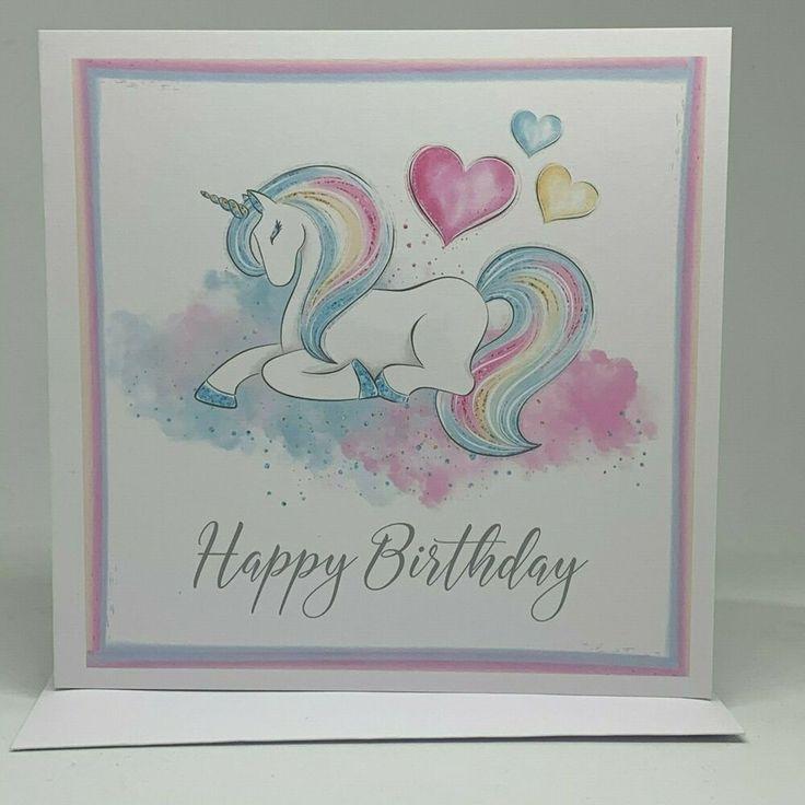 Unicorn Card, Greeting Card, Happy Birthday Card