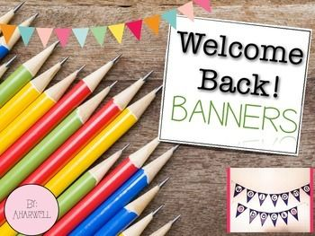 These Welcome back banners come in 4 different designs!Hang in the hallway or decorate your classroom to welcome back your kiddos and parents!Recommendation: Print on card stock, laminate, hole punch on top of flag and string up to hang! ***You might also like***Reading Street Spelling Words