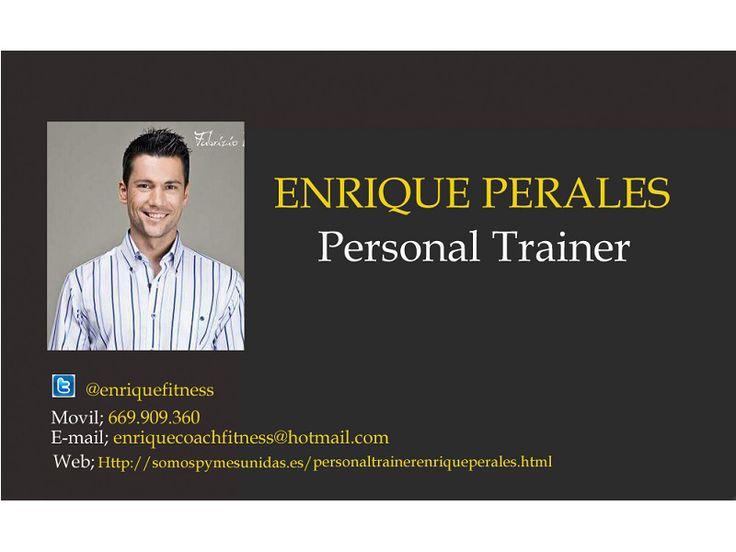 Personal Trainer Enrique Perales