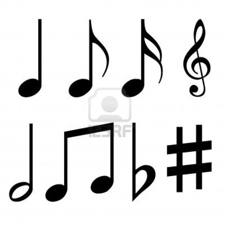 des notes de musique fixés Banque d'images - 13476967