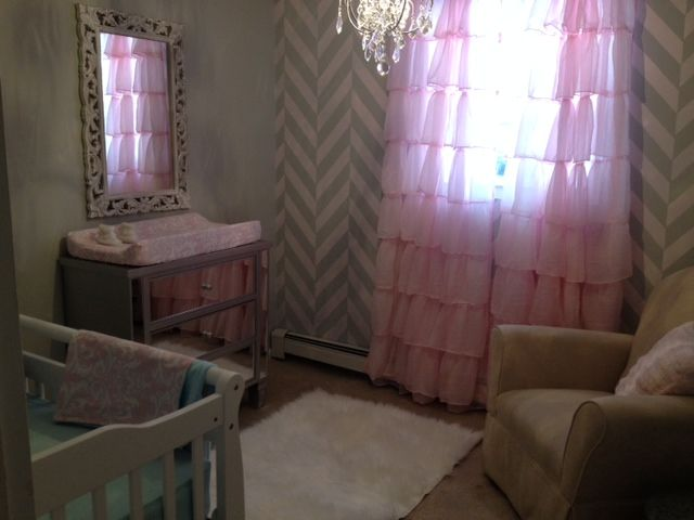 Herringbone Nursery Accent Wall