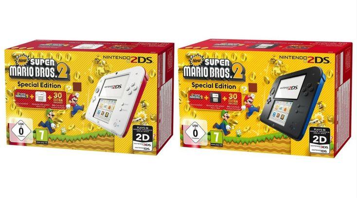 [Angebot]  Nintendo 2DS  Konsole (weiß  rot) oder (schwarz) inkl. New Super Mario Bros. 2 (vorinstalliert) für 79