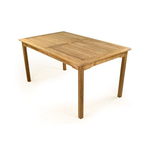 Grade A Teak Rectangular Garden Table. Free UK Delivery. Includes Hole For  Parasol.