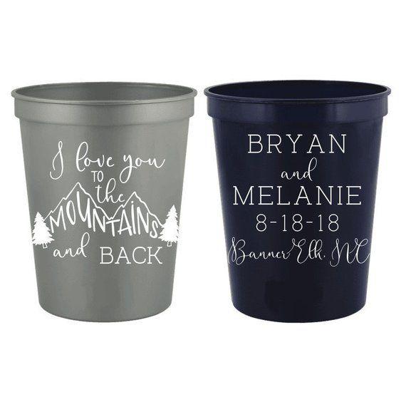 Mountain Wedding Favors Personalized Wedding Cups Reception Etsy Wedding Cups Personalized Wedding Cups Personalized Wedding Cups Receptions