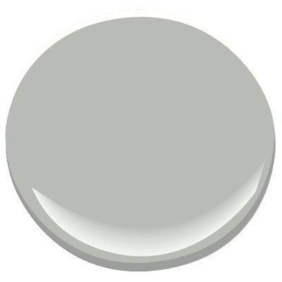 Coventry Gray (Benjamin Moore)- lovely medium gray, hard to tell if it leans green or blue, the perfect saturated gray.