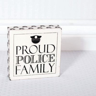 Adams & Co 'Proud Police Family' Textual Art on Plaque