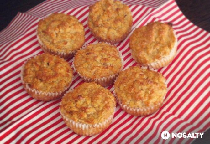 Almás-kókuszos zabmuffin