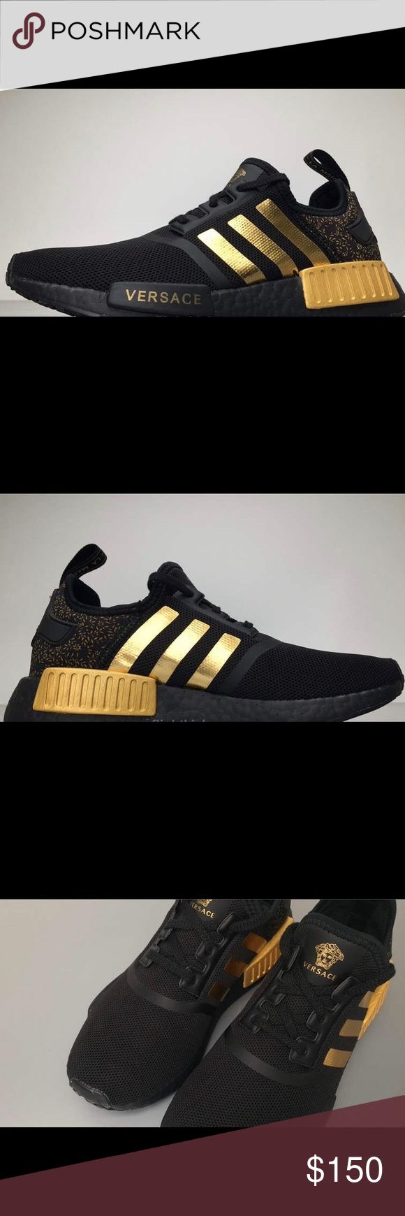 "Men Custom Made Versace Addidas NMD Style shoe Brand new. Custom Made Versace Addidas NMD Style Shoe *** Please order 1/2"" size bigger for accuracy *** Please allow up to 2 weeks for items to arrive Versace Shoes Sneakers"