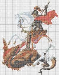 Resultado de imagem para santos bordados em ponto cruz