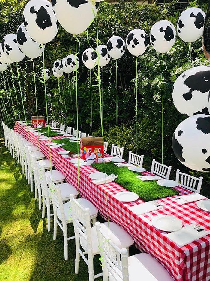 Barnyard Farm Birthday Party | Farm themed birthday party ...
