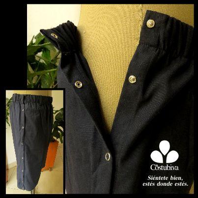 Pantaloneta masculina con costados abiertos, así tendrás más facilidad para vestirte si tienes un aparato fijador externo, una férula o estás en medio de una operación. Encuentra más en www.costubiva.com