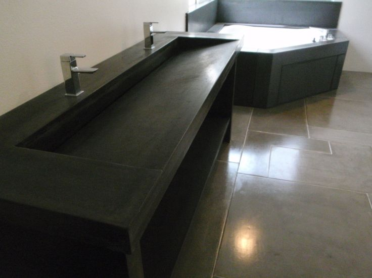 Concrete Trough Sink : custom concrete trough sink example wc: rock Pinterest