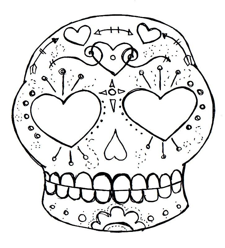 219 best printable sugar skulls coloring images on pinterest zombie in love and valentine sugar skull digital stamps pronofoot35fo Gallery