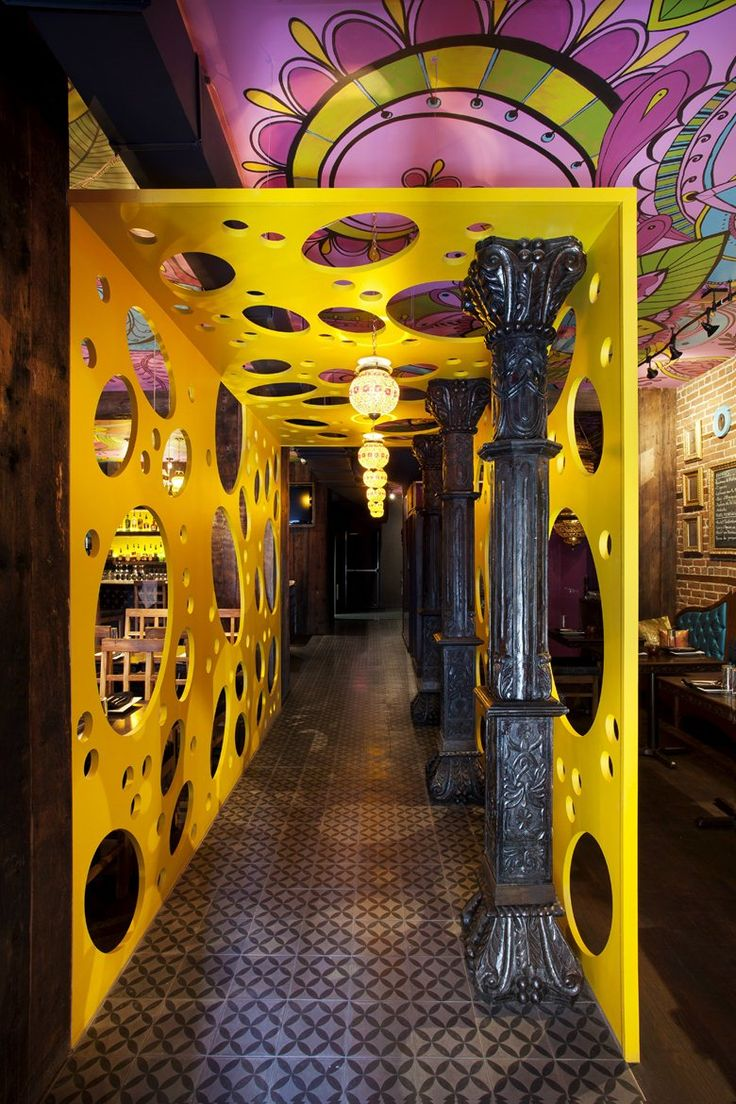 Indian restaurant Rasoï Designed by Jean de lessard - The Architects Diary