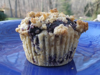 Better-than-the-Bakery Blueberry Streusel Muffins (2nd place winner of April's Crazy Cooking Challenge)