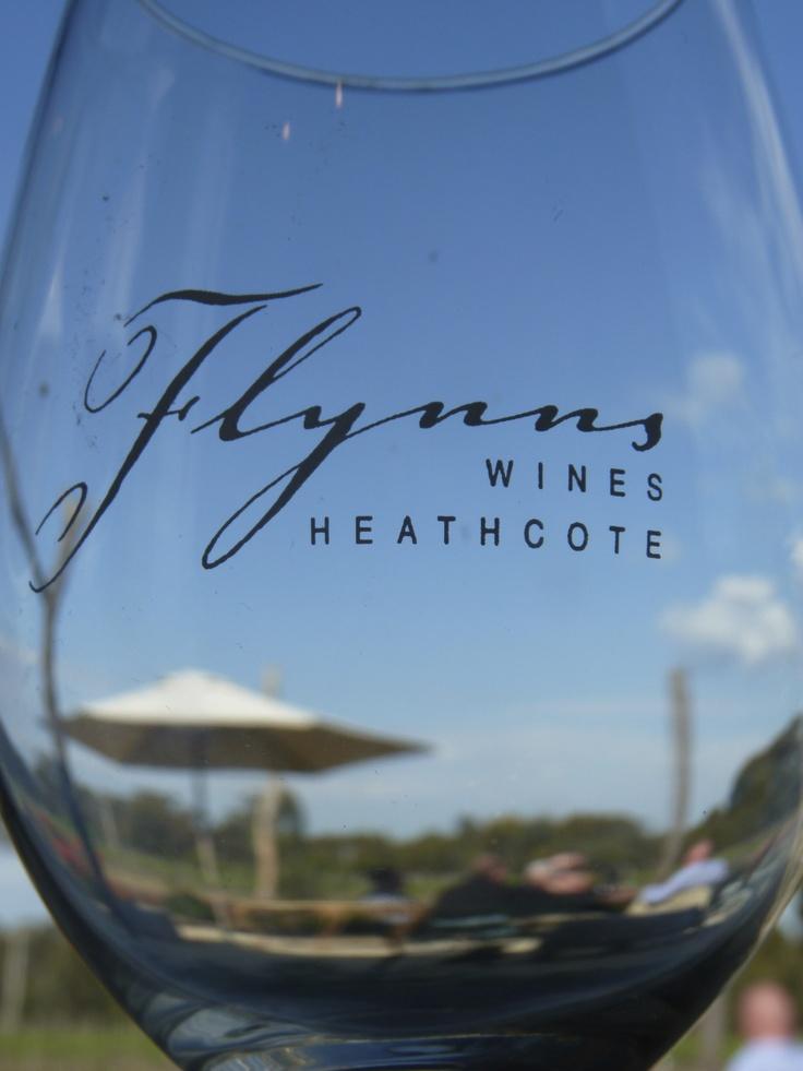 Wine glasses.  Flynns Wines Heathcote Victoria Australia